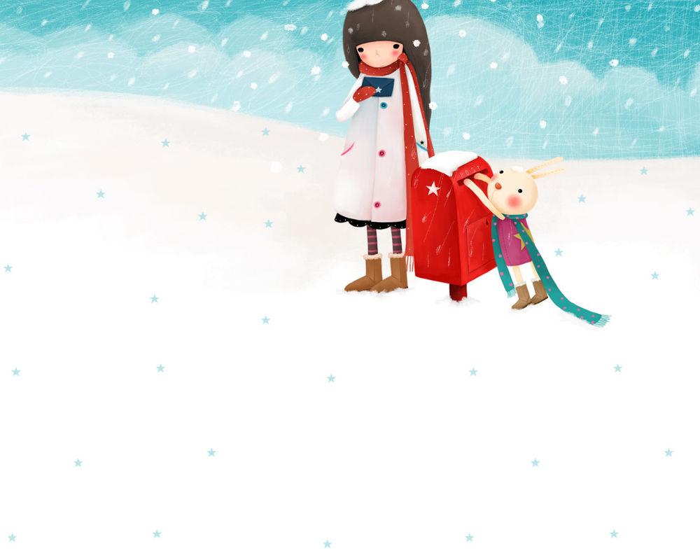 Февраля картинки, прикольные рисунки девочки зимы