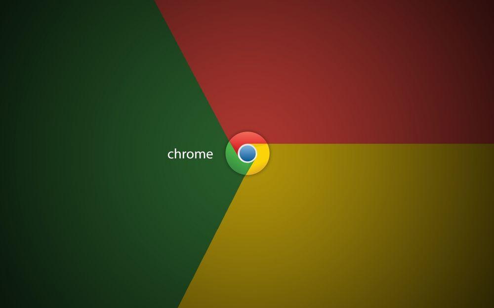 Обои для рабочего стола Логотип браузера гугл хром / Google chrome