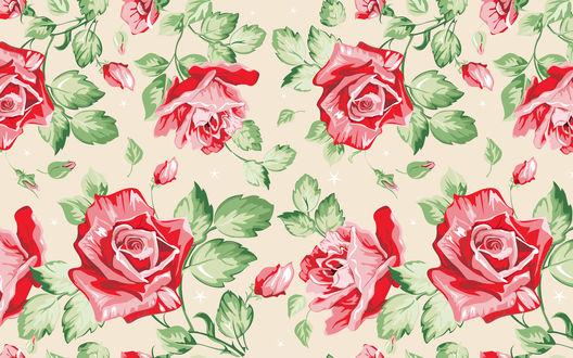 Обои Красные розы