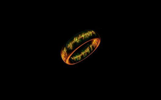 Обои Кольцо с надписями из к/ф 'Властелин колец' / ' The Lord of the Rings'