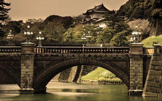 Обои Красивый мост в Китае