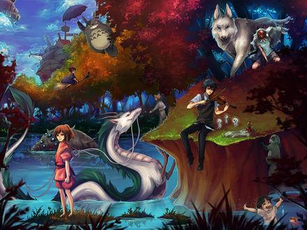 Обои Волшебный мир Хаяо Миядзаки / Hayao Miyazaki