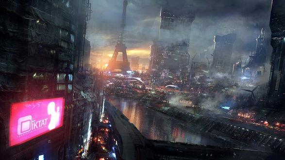 Обои Париж / Paris в будущем