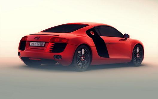 Обои Авто Audi R8 / Ауди красная