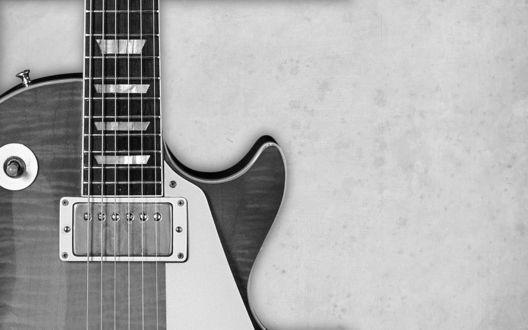 Обои Чёрно-белая гитара
