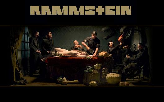 Обои Обложка альбома 'Liebe ist für alle da' / 'Любовь для всех' немецкой группы Рамшайн / Rammstein