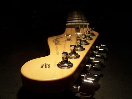 Обои Головка грифа гитары