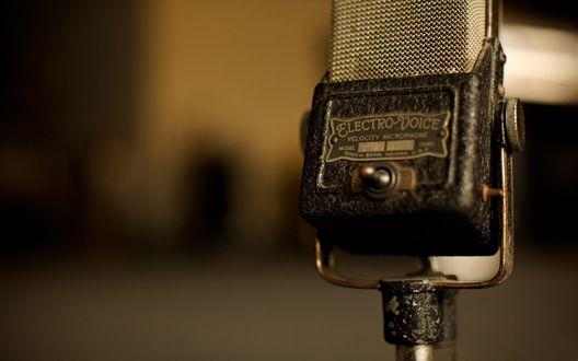 Обои Ретро микрофон Electro-Voice