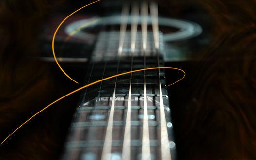 Обои Гриф гитары, инструмент созданный чтобы играть rock / рок (metallika)
