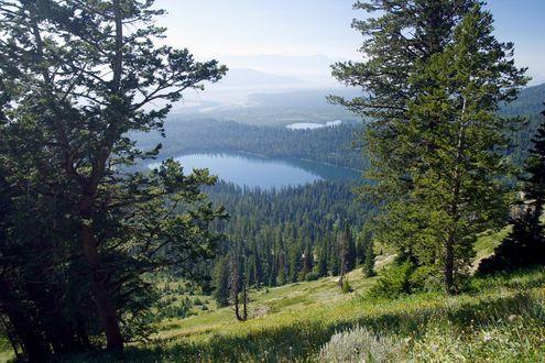 Обои Озера Брэдли и Таггарт (вид сверху, США / USA)