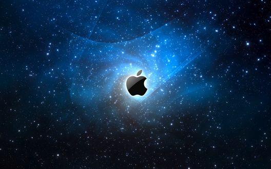 Обои Логотип Apple / Эппл на фоне неба