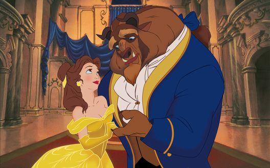 Обои Отрывок из м/ф 'Красавица и Чудовище / Beauty and the Beast'