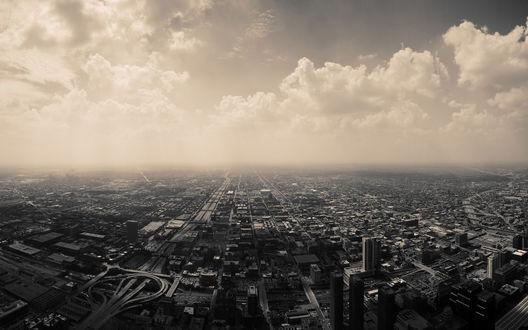 Обои Вид с неба на город