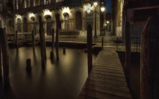 Обои Тёмные улицы Венеции / Venice, Италия / Italy