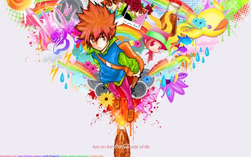яркие аниме картинки: