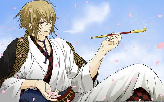 Обои Kazama Chikage / Тикагэ Кадзама из аниме Сказание о демонах сакуры / Hakuouki: Shinsengumi Kitan