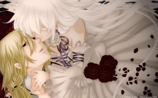 Обои Jack Vessalius / Джек Безариус и Белая Алиса (Воля Бездны) из аниме Сердца Пандоры / Pandora Hearts