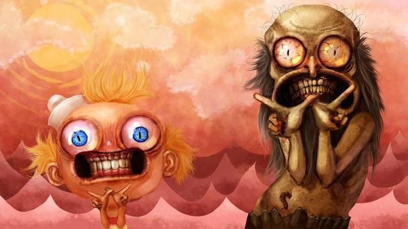 Обои Удивительные злоключения Флэпджека / The Marvelous Misadventures of Flapjack, мультсериаил производства Cartoon Network