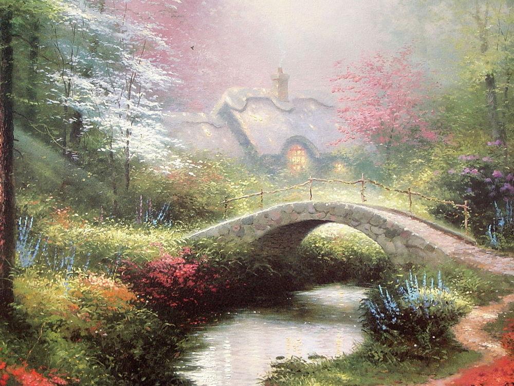 Открытка мостик