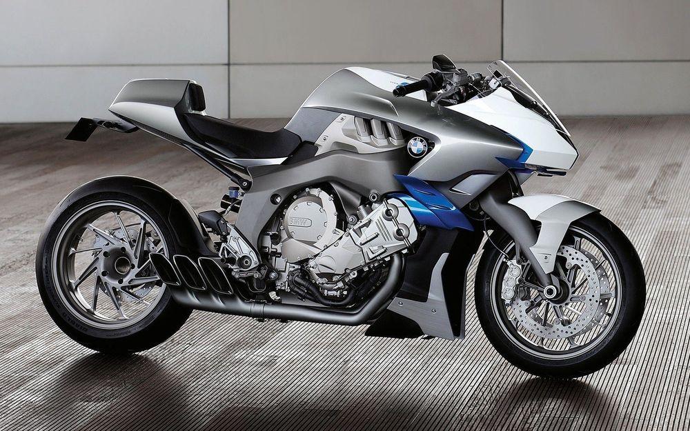 Обои для рабочего стола Серый мотоцикл BMW Motorcycle Concept / БМВ Мотокайкл Концепт