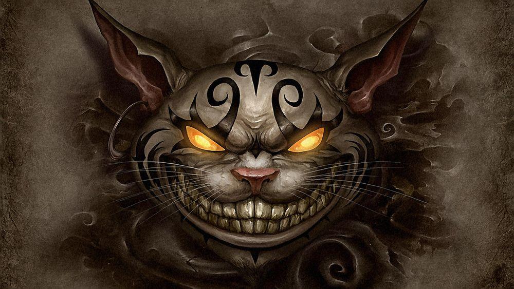 Обои для рабочего стола Улыбка Чеширского кота из игры 'Алиса в стране чудес' / 'Alice in Wonderland'