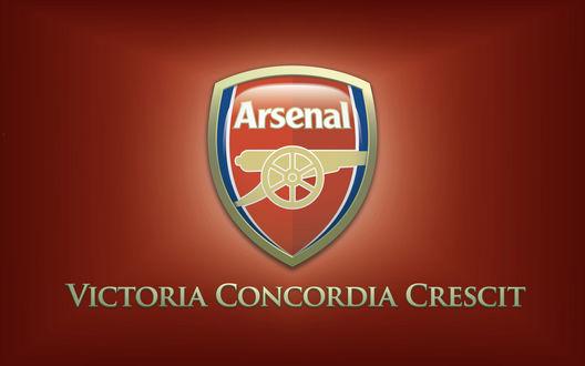Обои Знак футбольного клуба Арсенал / Arsenal (Victoria Concordia Crescit)
