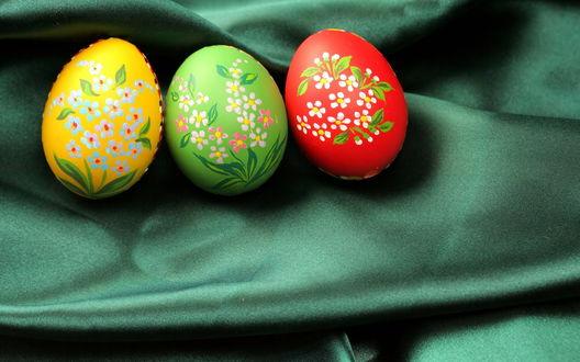 Обои Нарисованные цветы на яйцах