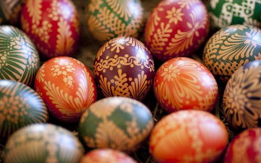 Обои Крашенные пасхальные яйца
