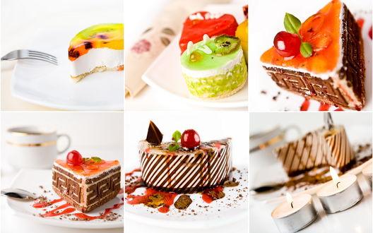 Обои Подборка красивых пирожных