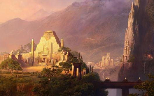 Обои Храмы древних ацтеков