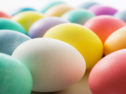 Обои Цветные пасхальные яйца