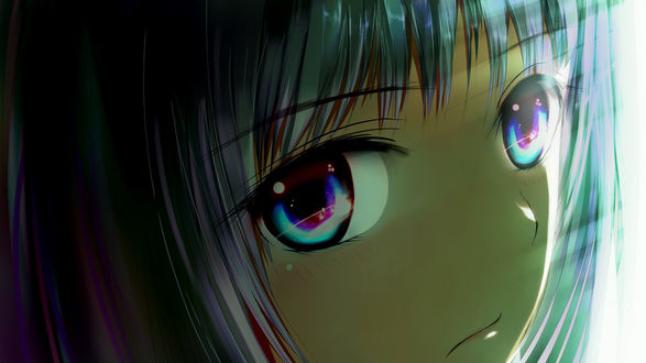 Обои Взгляд Алисы (Shionji Yuuko / Юко Сиондзи) из аниме Блокнот Бога / Kamisama no Memo-chou