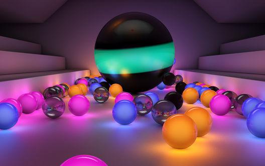 Обои Красивые разноцветные шары
