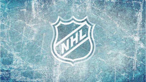 Обои  Знак НХЛ / HXL на льду