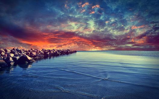 Обои Закат на Балтийском море