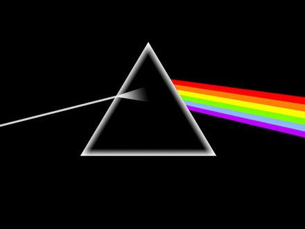 Обои Обложка альбома рок группы Pink Floyd 'The Dark Side of the Moon'