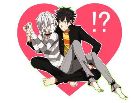 Обои Тома + Акселератор из аниме To Aru Majutsu no Index (♥!?)
