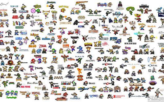 Обои Герои видео игр (Pikmin, Wario Ware, Star Wars, Blasto, Prince of Persia, Silent Hill, Sonic the Hedgehog, Half - Life, Max Payne, Counter Strike)