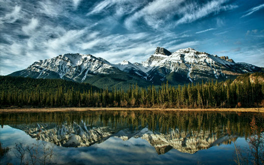 Обои Canada, Alberta mountains / Канада, горы Альберта