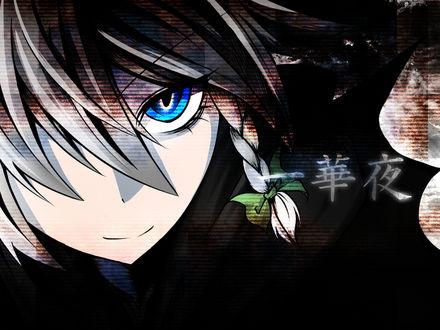 Обои Взгляд Сакуя Изаёи / Sakuya Izayoi из аниме-игры Тохо / Touhou Project и иероглифы