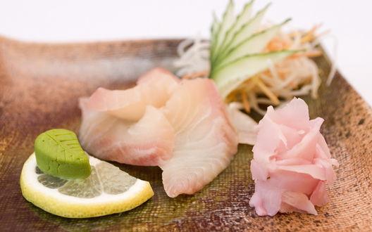 Обои Имбирь, васаби, лимончик - все для суши