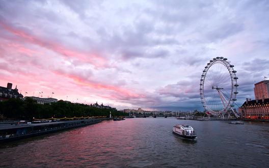 Обои Утренний Лондон / London, Великобритания / Great Britain