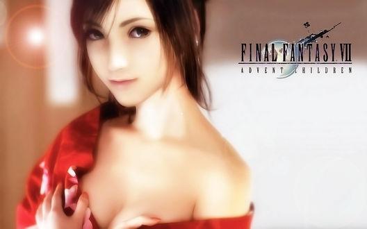 Обои Tifa Lockhart / Тифа Локхарт из аниме-игры Последняя фантазия 7: Дети пришествия / Final Fantasy VII: Advent Children