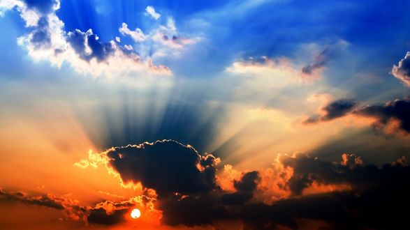 закат солнце облака  № 3851949 загрузить