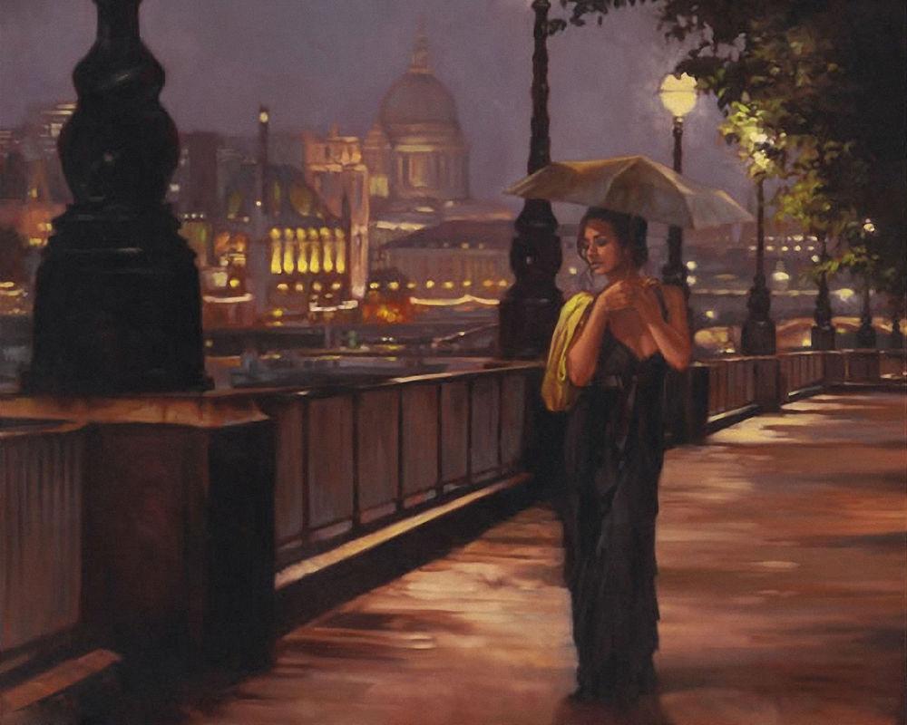 Обои фонари, вечерний город, ночной город. Города foto 14