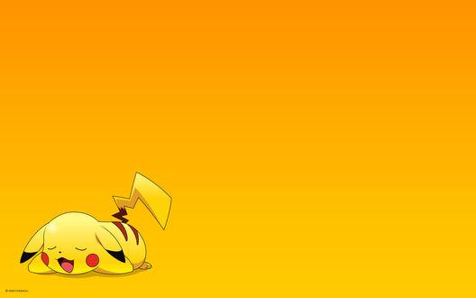 Обои Pikachu / Пикачу из аниме Покемон / Pokemon дрыхнет