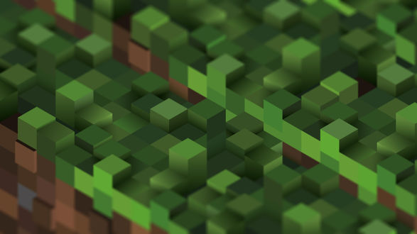Обои Зеленые кубики