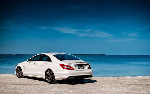 Обои Мерседес СЛ 5 / Mercedes CL 5 на берегу моря