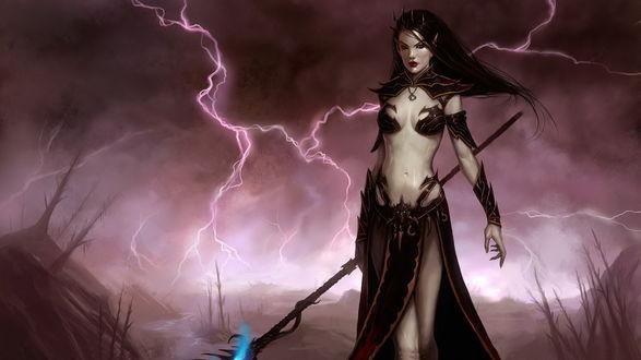 Обои Warhammer online: age of reckoning. Mysthic / Вархаммер онлайн: время возмездия. Девушка маг