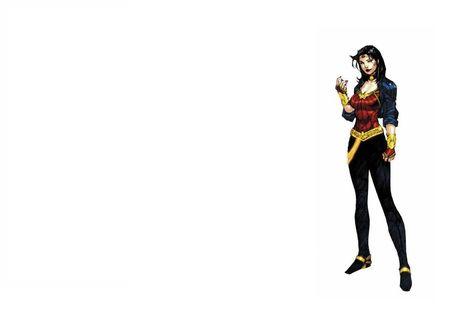 Обои Супергероиня Чудо-Женщина / Wonder Woman, персонаж мультфильма 'Лига Справедливости / Justice League'